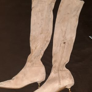 Valentino kitten twist heel knee high boots
